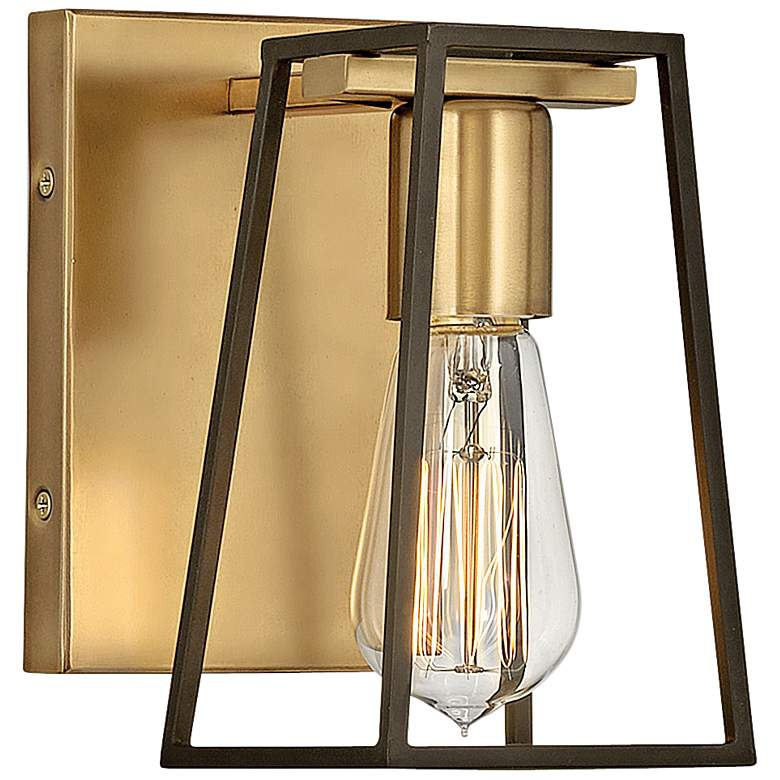 """Hinkley Filmore 7 1/2"""" High Heritage Brass Wall Sconce"""