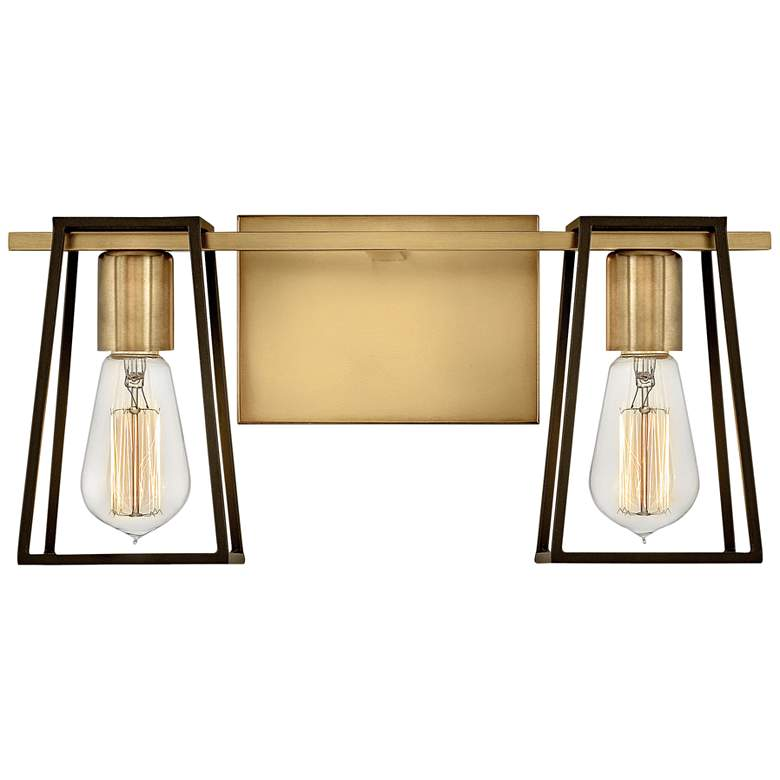"Hinkley Filmore 7 1/2""H Heritage Brass 2-Light Wall"