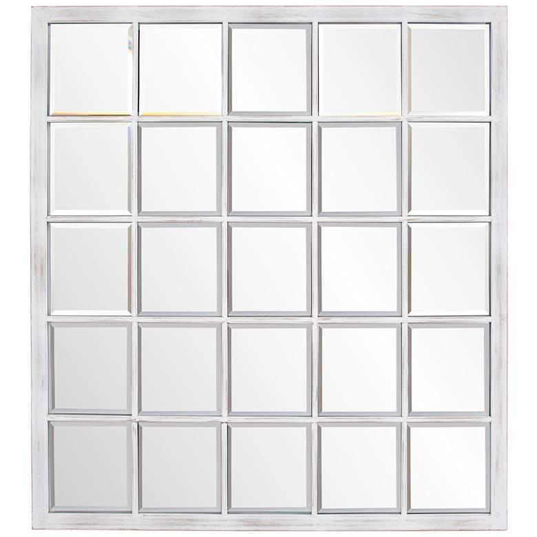 "Howard Elliott Superior White 34"" x 38"" Wall Mirror"
