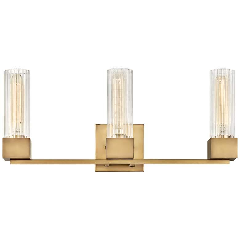 "Hinkley Xander 23"" Wide Heritage Brass 3-Light Bath Light"