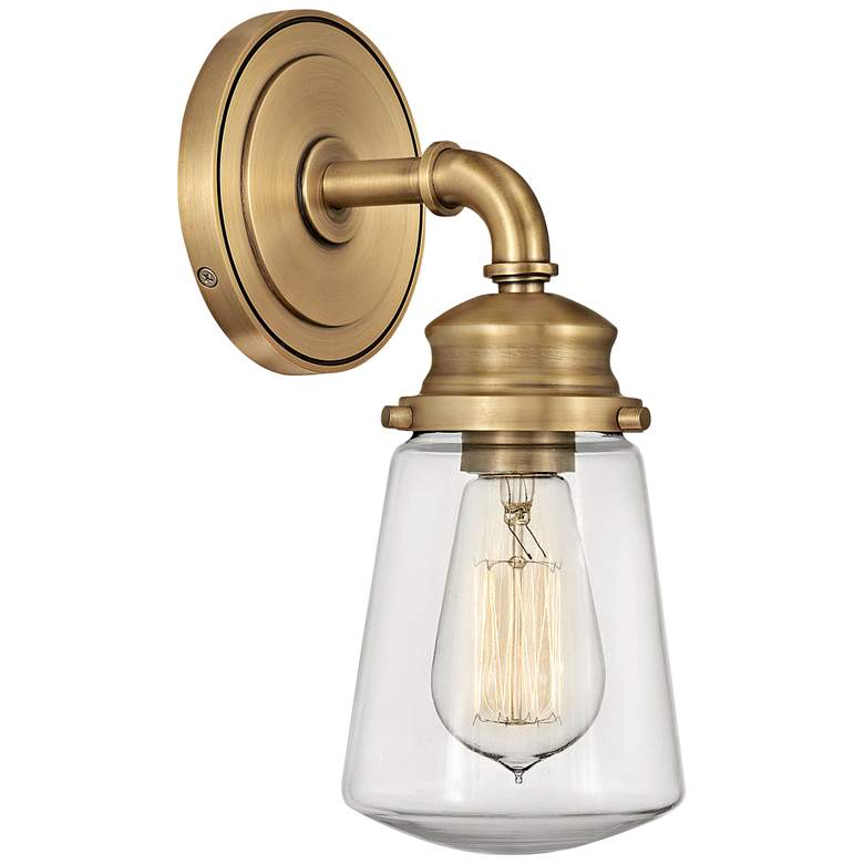 "Hinkley Fritz 11 3/4"" High Heritage Brass Wall Sconce"