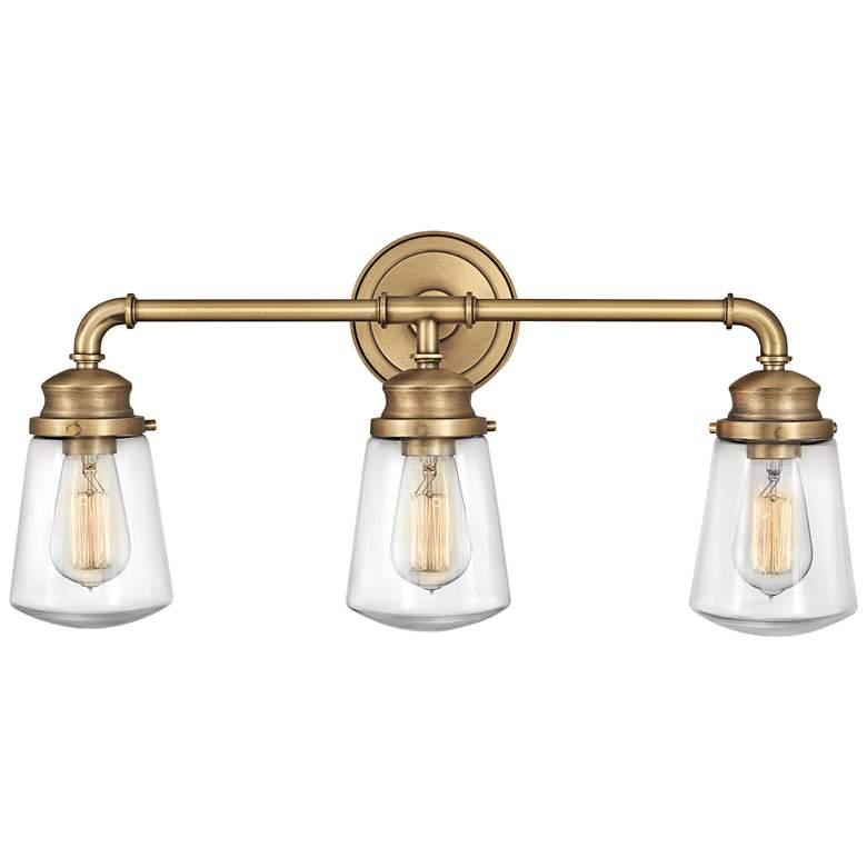 "Hinkley Fritz 24"" Wide Heritage Brass Bath Light"