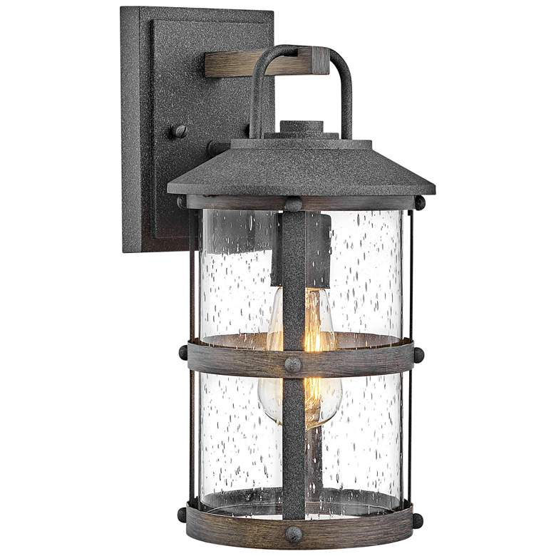 """Hinkley Lakehouse 14 1/2"""" High Aged Zinc Outdoor Wall Light"""