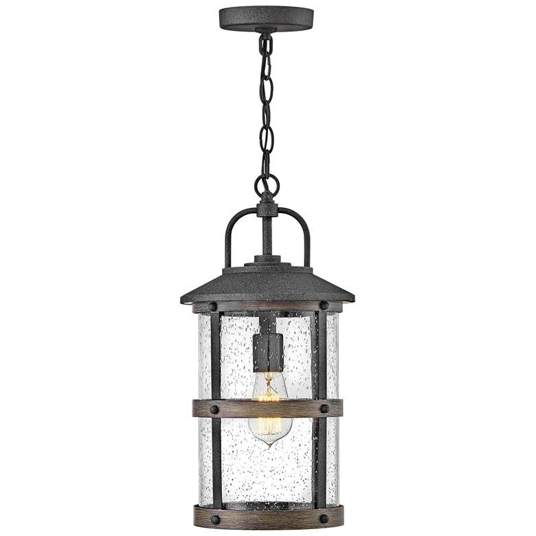 "Hinkley Lakehouse 17 3/4""H Aged Zinc Outdoor Hanging Light"