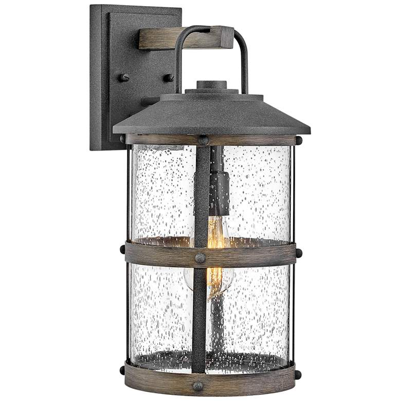"""Hinkley Lakehouse 17 1/4"""" High Aged Zinc Outdoor Wall Light"""