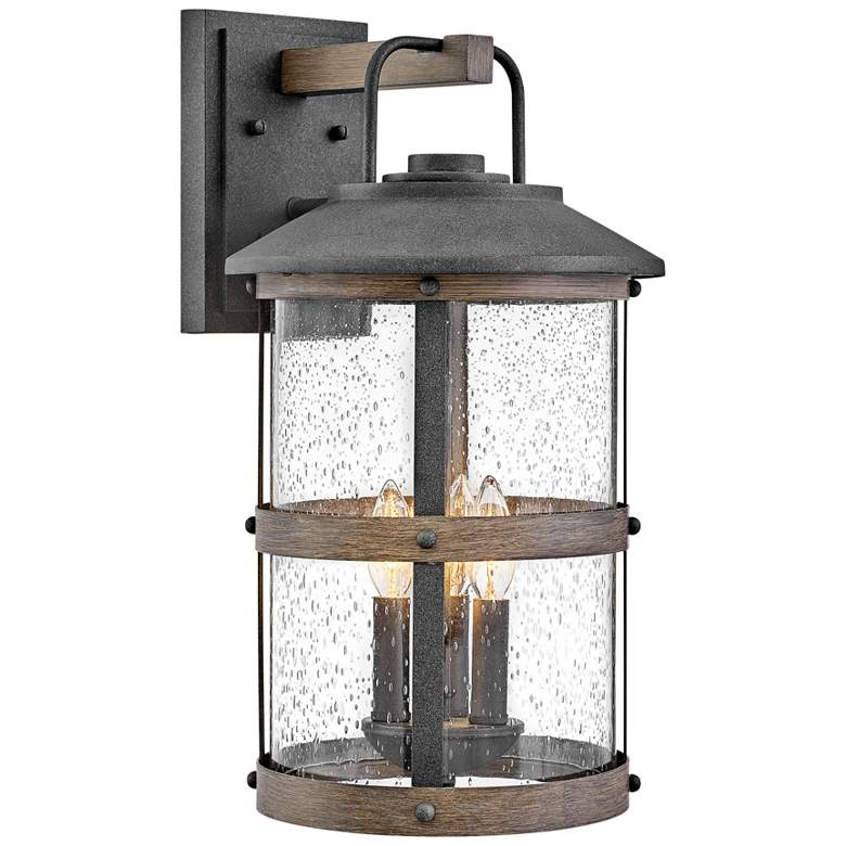 Hinkley Lakehouse 19 3 4 High Aged Zinc Outdoor Wall Light