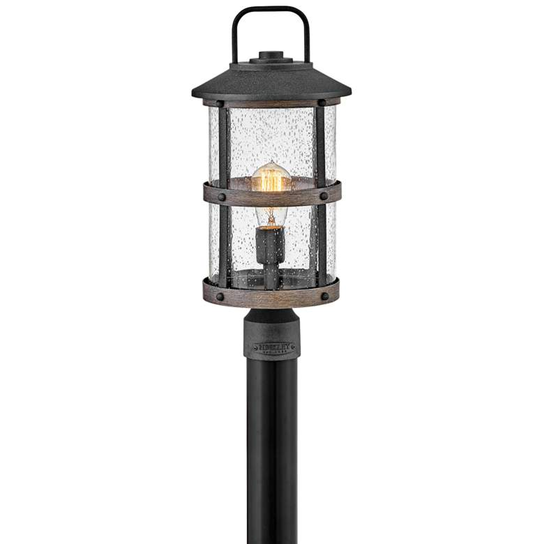 "Hinkley Lakehouse 18 3/4"" High Aged Zinc Outdoor Post Light"