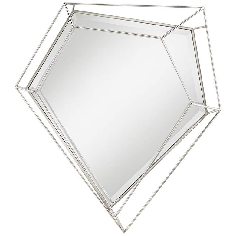 "Possini Euro Hart 31"" x 37"" Steel Pentagon Wall Mirror"