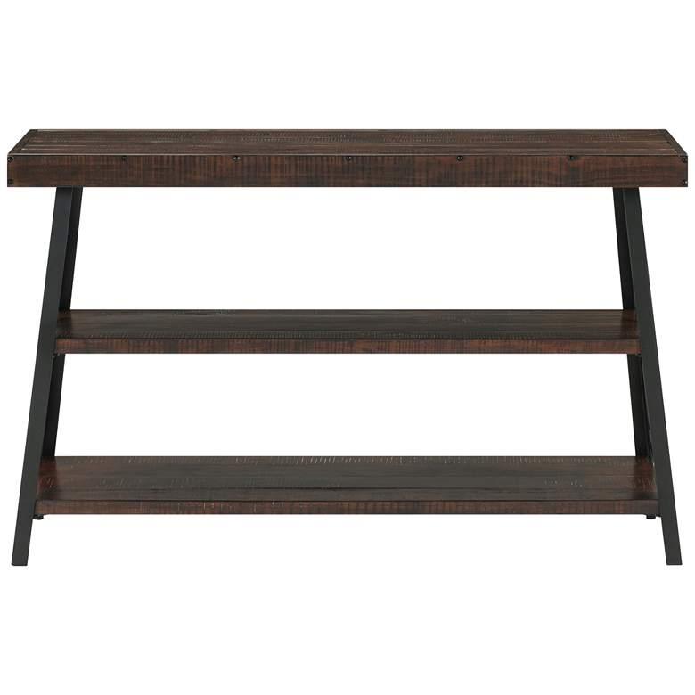 "Prairie 48""W Sumatra Wood and Metal Sofa Console Table"