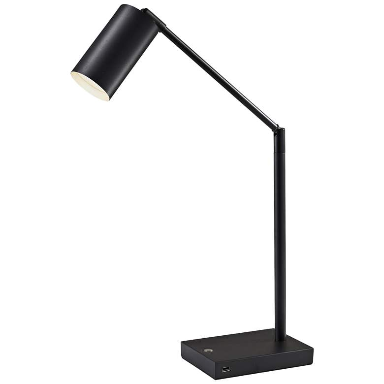 Colby Black Painted Metal LED Touch Desk Lamp with USB Port