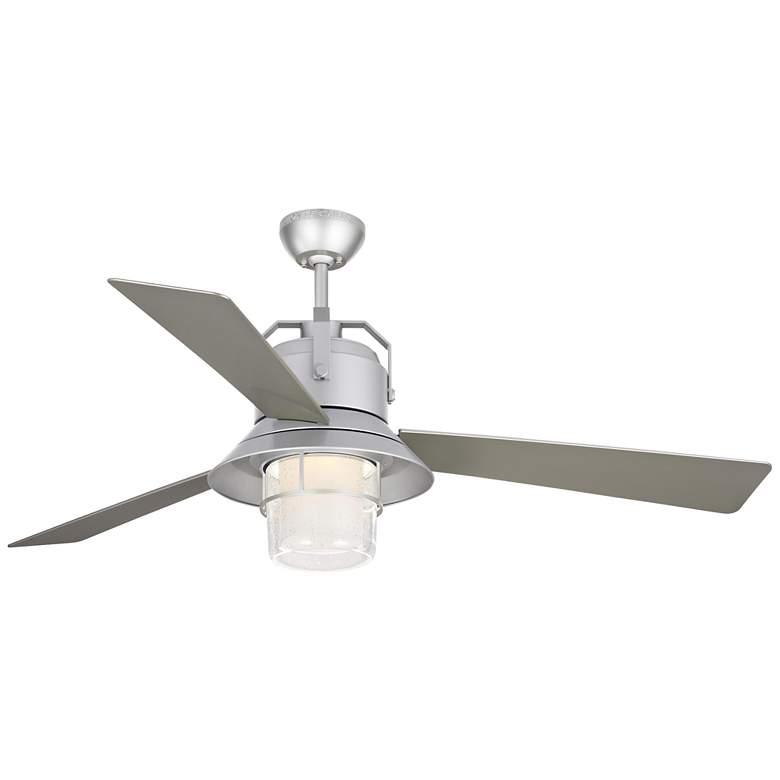 "54"" Boynton Painted Brushed Steel LED Outdoor Ceiling Fan"
