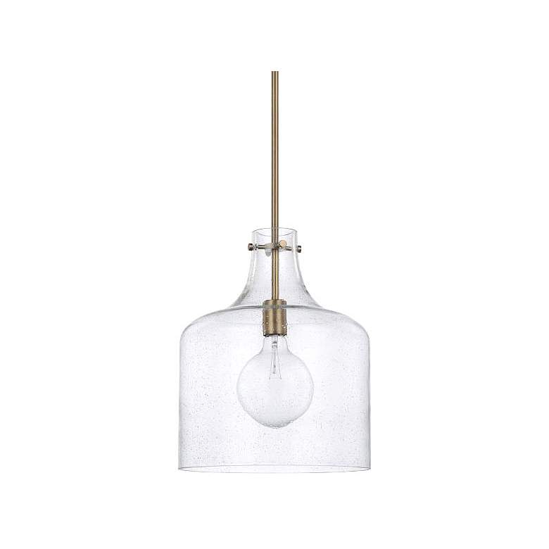 """Capital Homeplace 11 3/4"""" Wide Aged Brass Mini Pendant Light"""