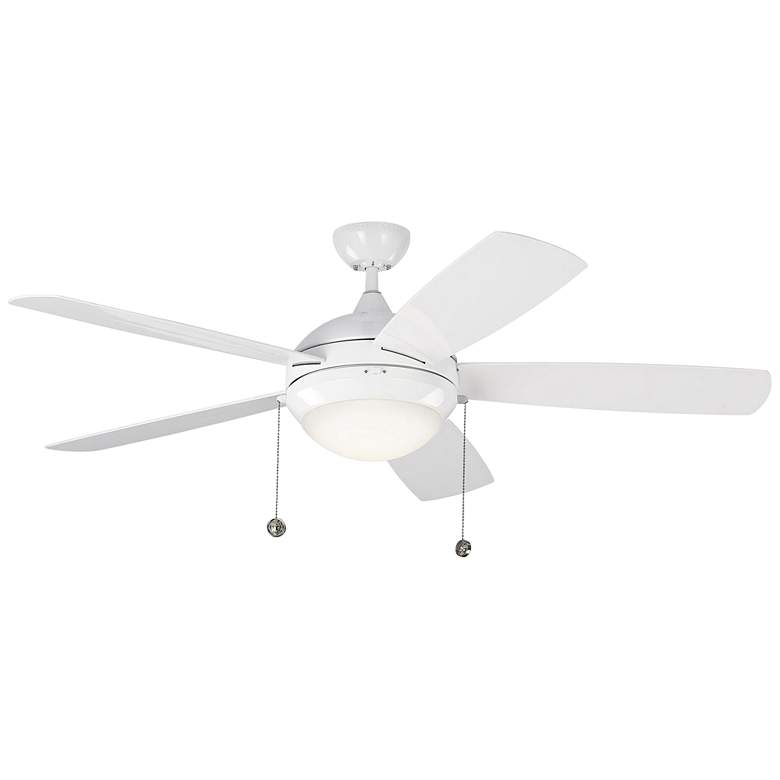 "52"" Monte Carlo Discus White LED Outdoor Ceiling Fan"