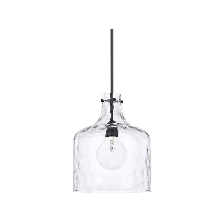 """Capital Homeplace 11 3/4""""W Matte Black Mini Pendant Light"""