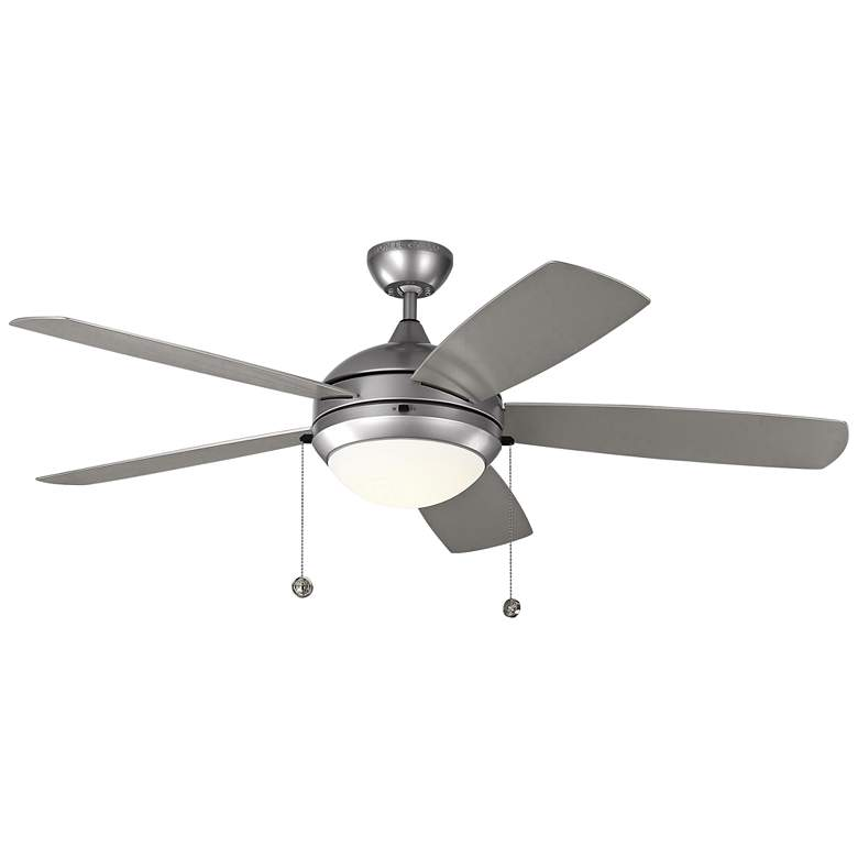 """52"""" Monte Carlo Discus Brushed Steel LED Outdoor Ceiling Fan"""