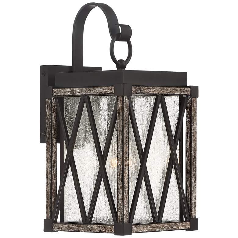 "Possini Euro Brawley 13 1/2""H Lantern Outdoor Wall Light"