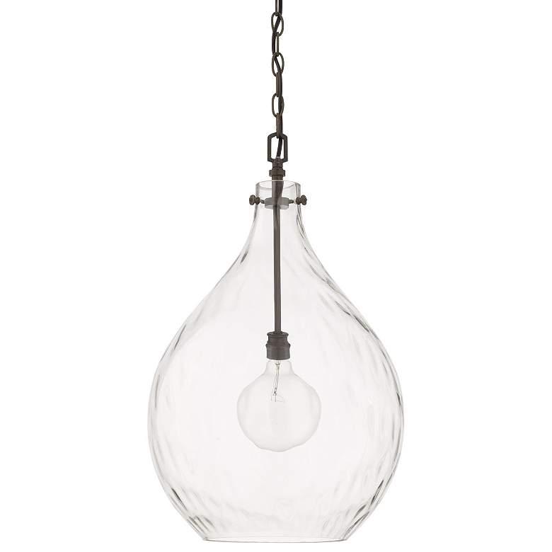 "Capital Bristol 15""W Farmhouse Grayish Black Pendant Light"
