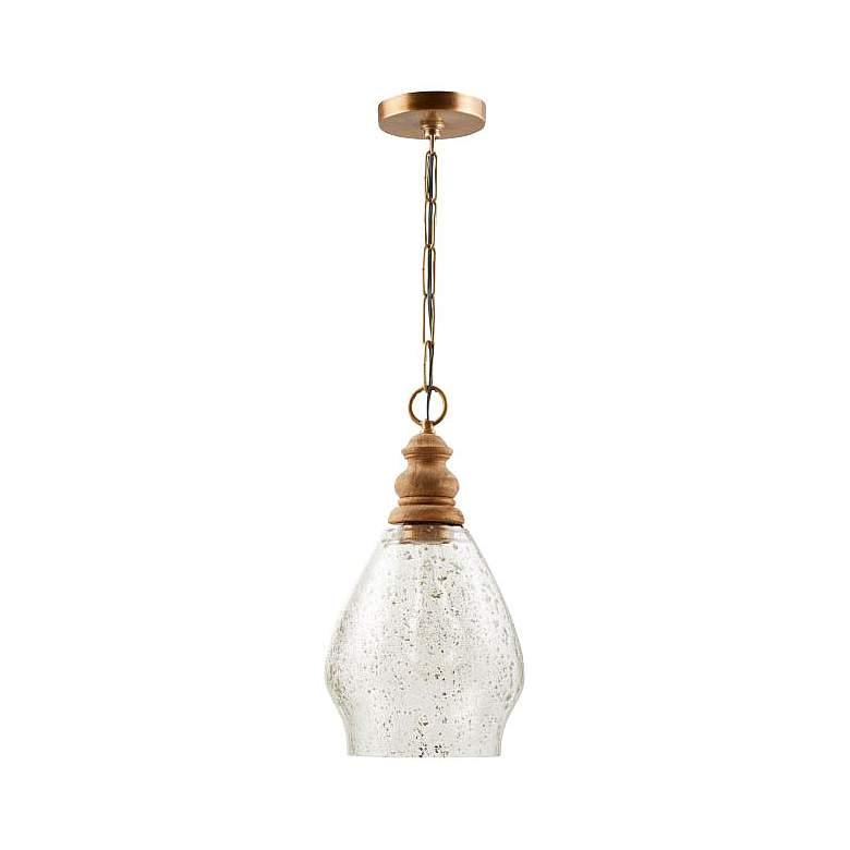 "Capital 8 1/2"" Wide Light Wood Mini Pendant Light"