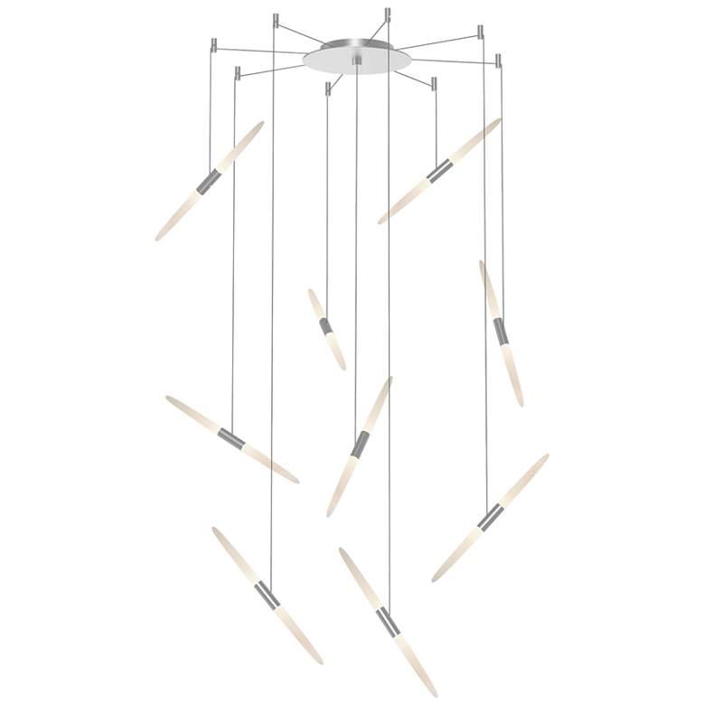 """Ballet 21 1/4"""" Wide 9-Light Swag Satin Aluminum LED Pendant"""