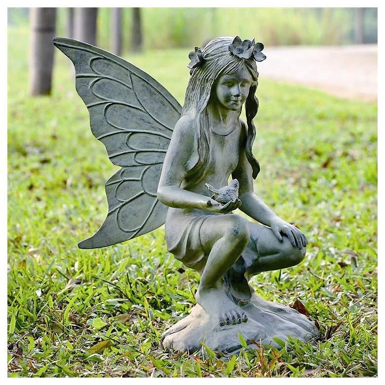 "Fairy 26"" High Aluminum Outdoor Garden Statue"