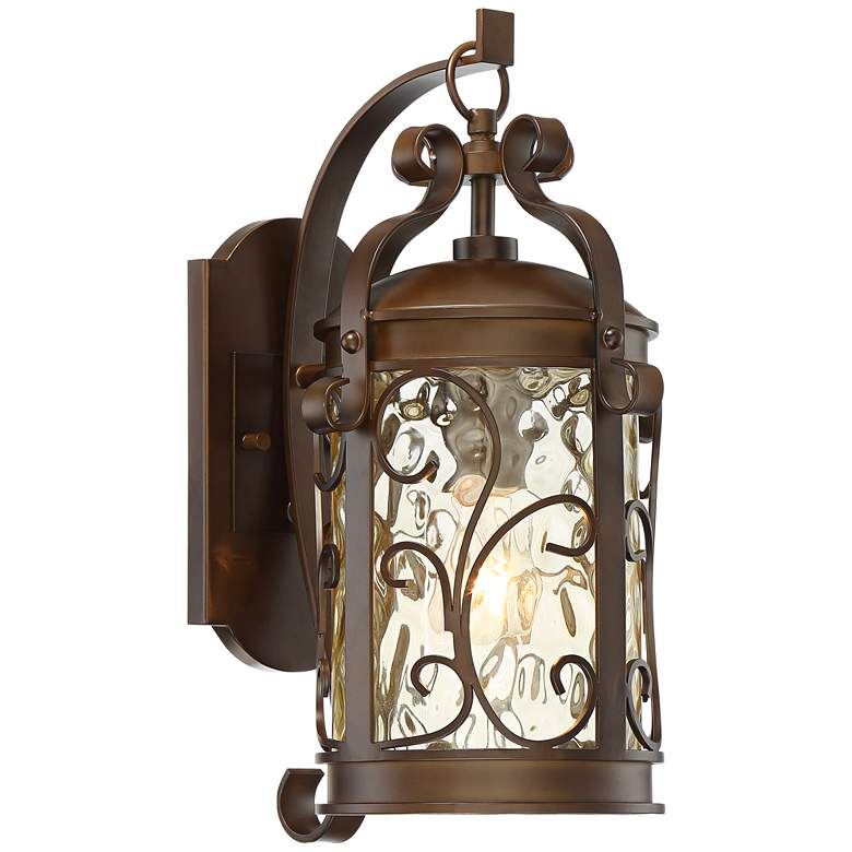"""Conway 17 1/2""""H Oil-Rubbed Bronze Scroll Outdoor Wall Light"""