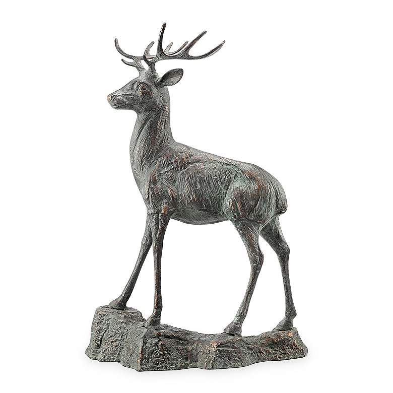 "Forest Prince 41 1/2"" High Outdoor Garden Deer Statue"