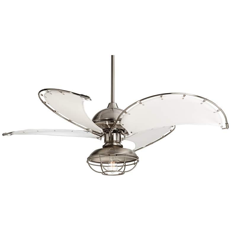 "52"" Aerial II Brushed Nickel Canvas Blade  LED Ceiling Fan"