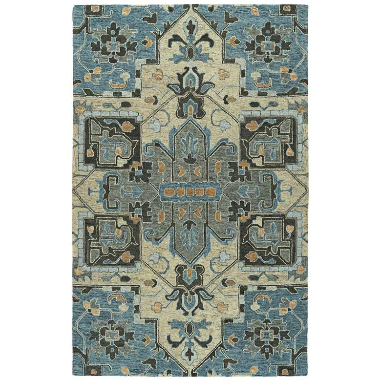 Kaleen Chancellor CHA09-17 Blue Wool Area Rug