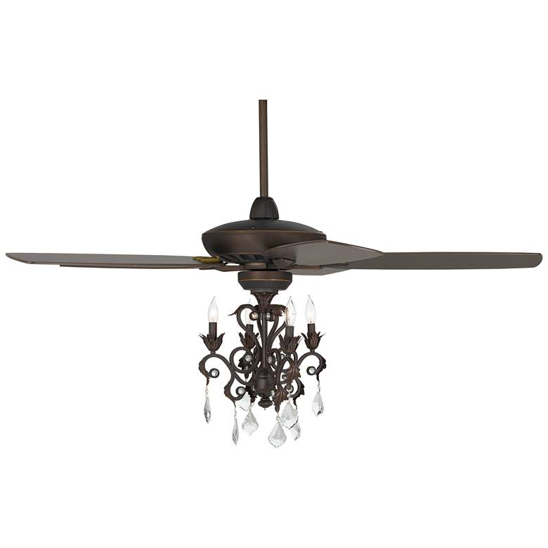 "52"" Casa Journey Oil-Rubbed Bronze Crystal LED Ceiling Fan"