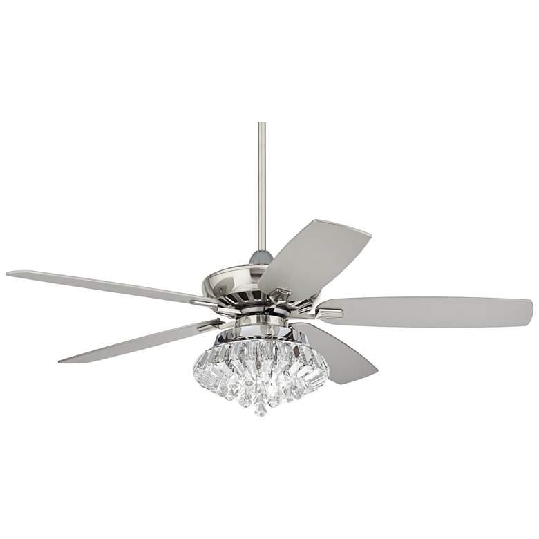 "52"" Casa Journey Brushed Nickel Deco LED Ceiling Fan"