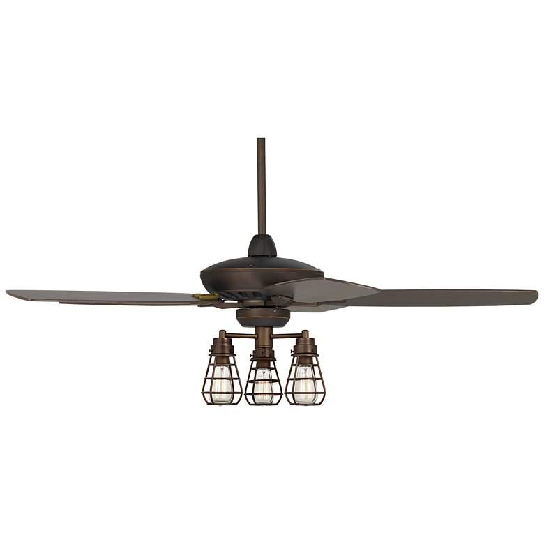 "52"" Casa Journey Oil-Rubbed Bronze Cage LED Ceiling Fan"