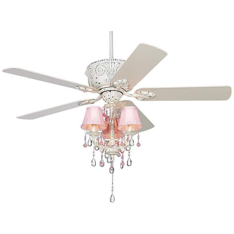 """52"""" Casa Deville Pretty in Pink LED Ceiling Fan"""