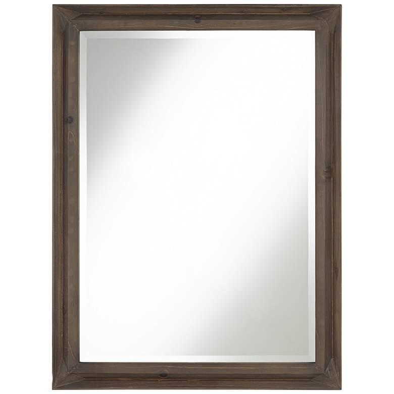 """Kien 24 1/2"""" x 34 1/2"""" Rectangular Wood Wall Mirror"""