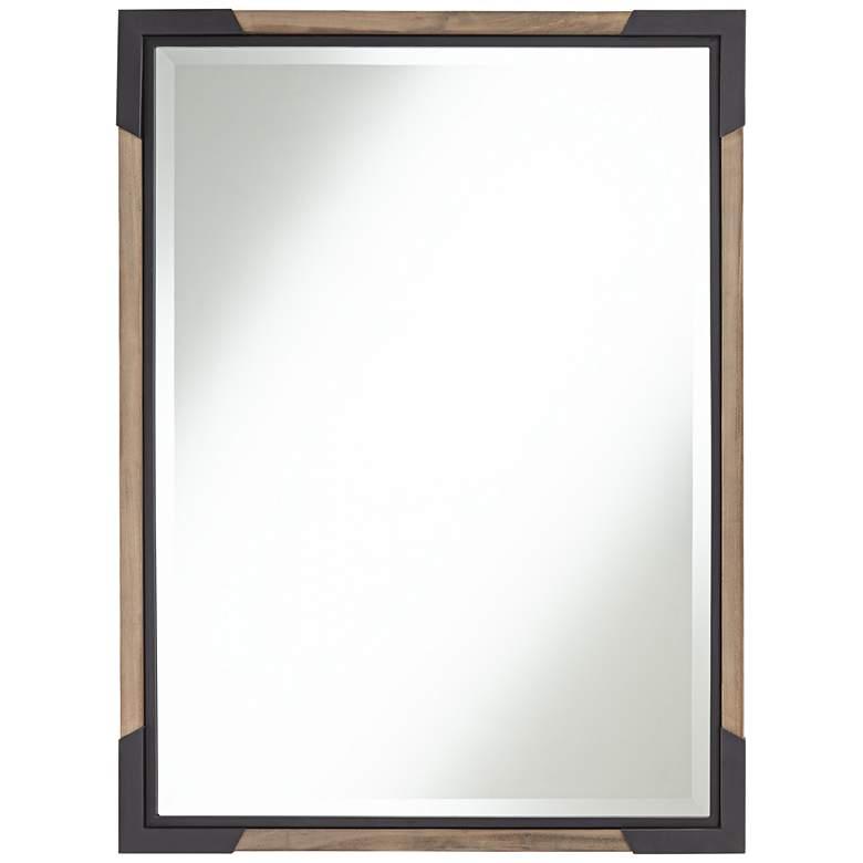 "Ayah 30"" x 40"" Bracket Wood Wall Mirror"