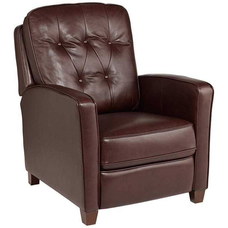 Livorno Chocolate Leather 3-Way Recliner Chair