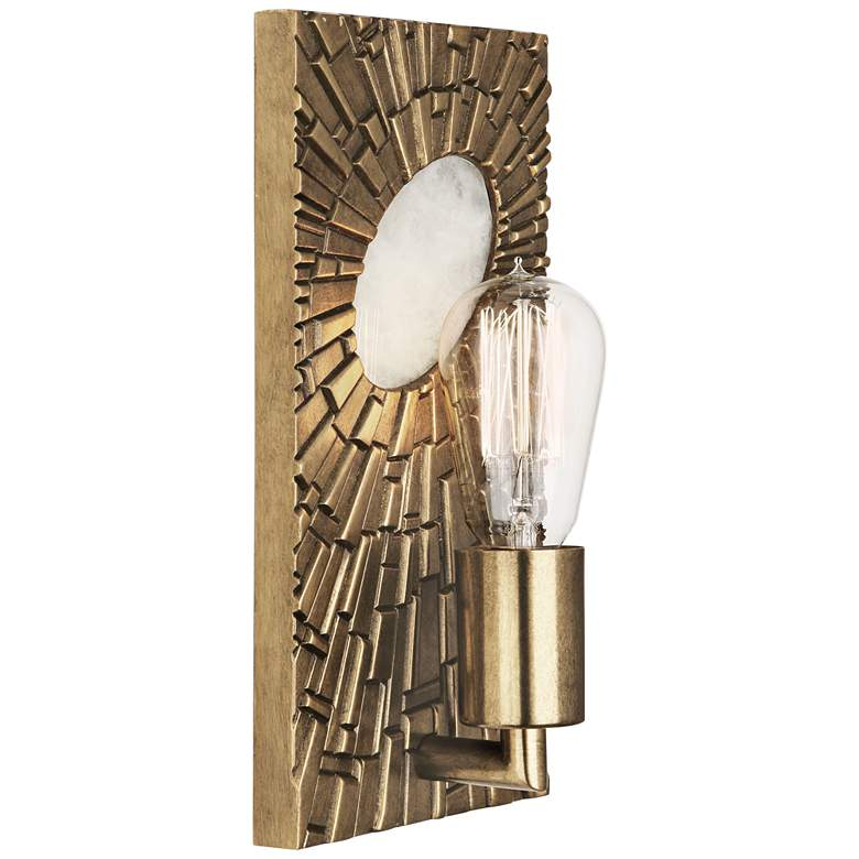 "Goliath 11"" High Antiqued Modern Brass Wall Sconce"
