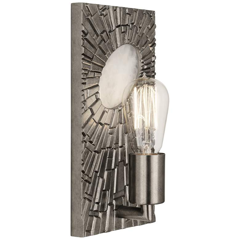 """Goliath 11"""" High Antiqued Polished Nickel Wall Sconce"""