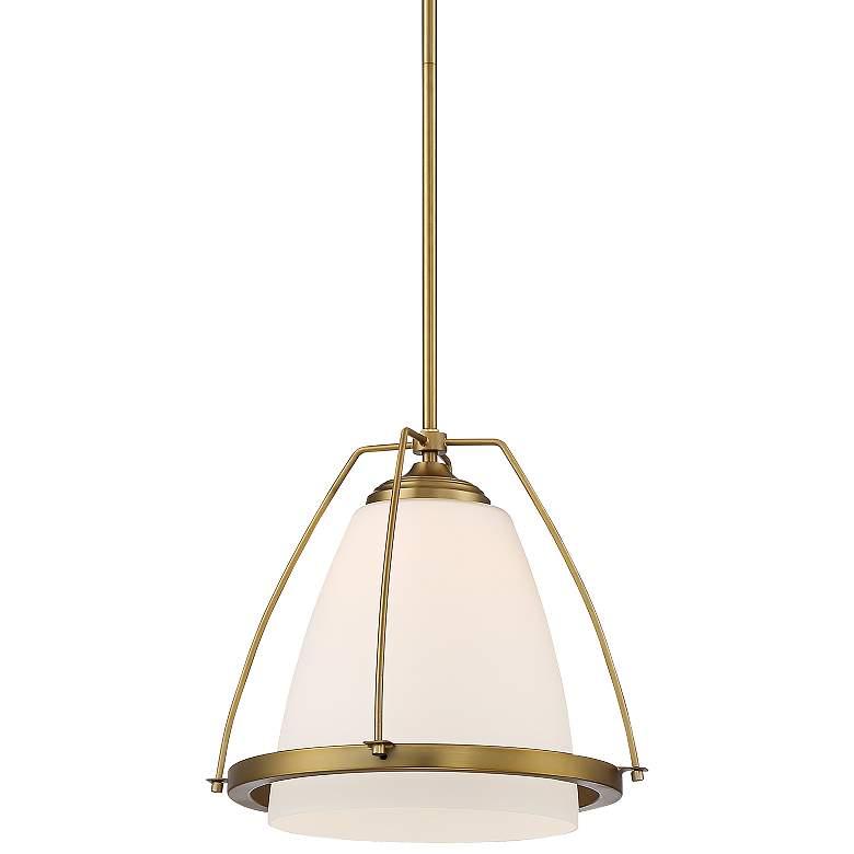 "Possini Euro Venetia 14"" Wide Warm Brass Mini Pendant Light"