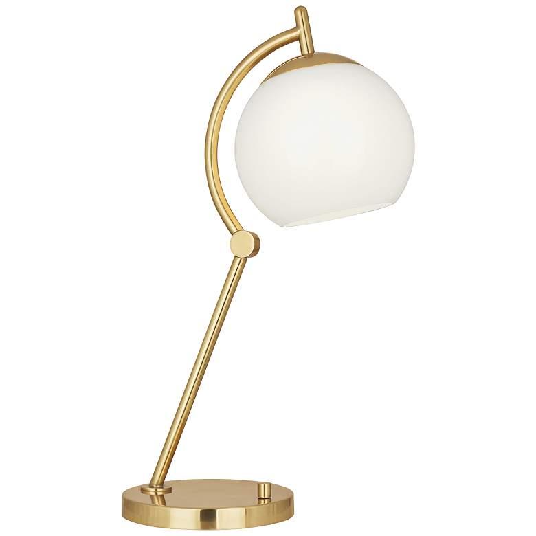 Robert Abbey Nova Modern Brass Metal Desk Lamp with USB Port