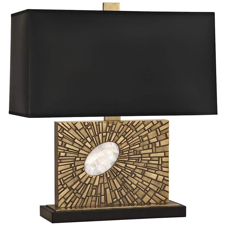 Goliath Modern Brass Accent Table Lamp with Black