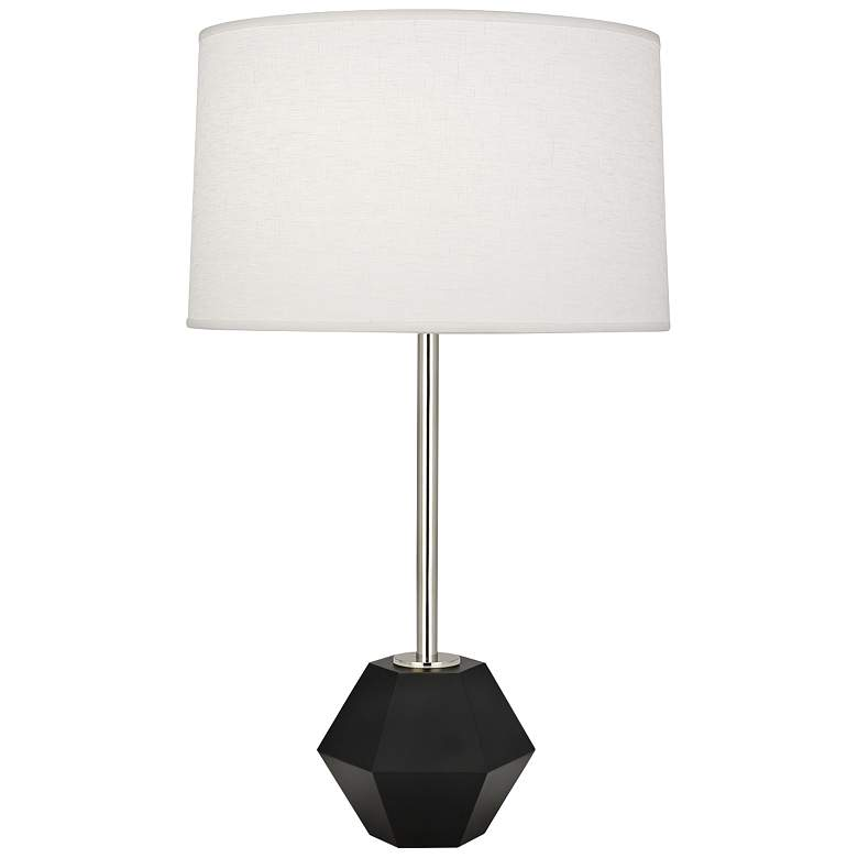 Robert Abbey Marcel Polished Nickel with Black Table Lamp