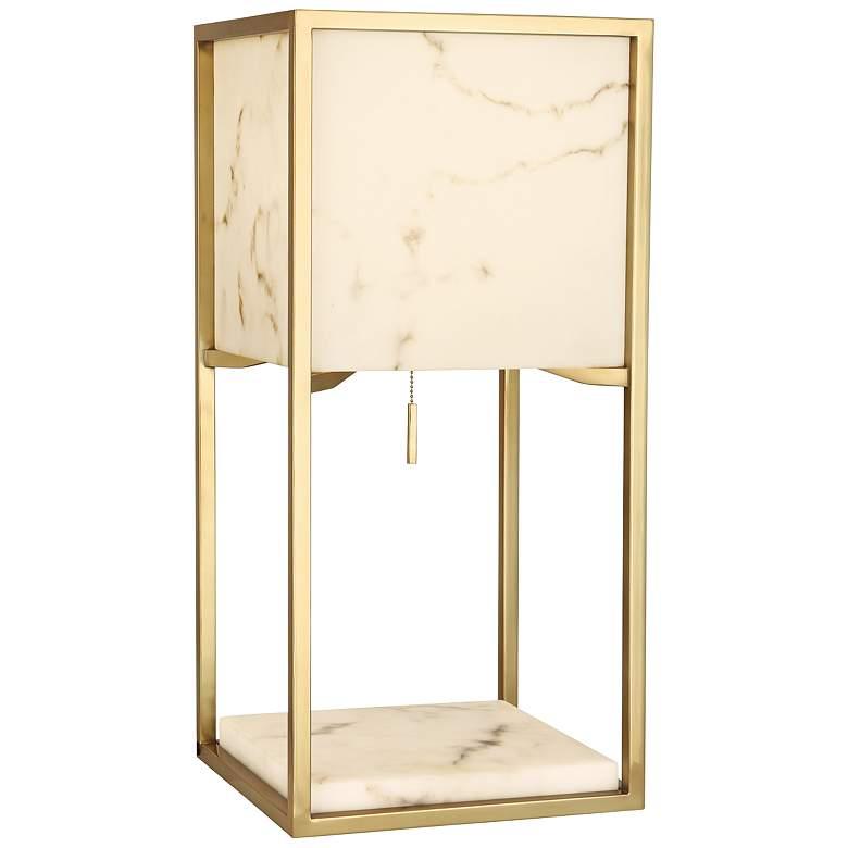 Robert Abbey Rubix Modern Brass Rectangular Table Lamp