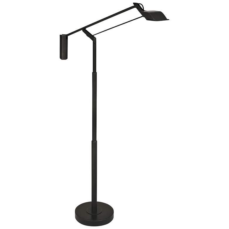 Robert Abbey Heron Patina Bronze LED Touch Floor Lamp