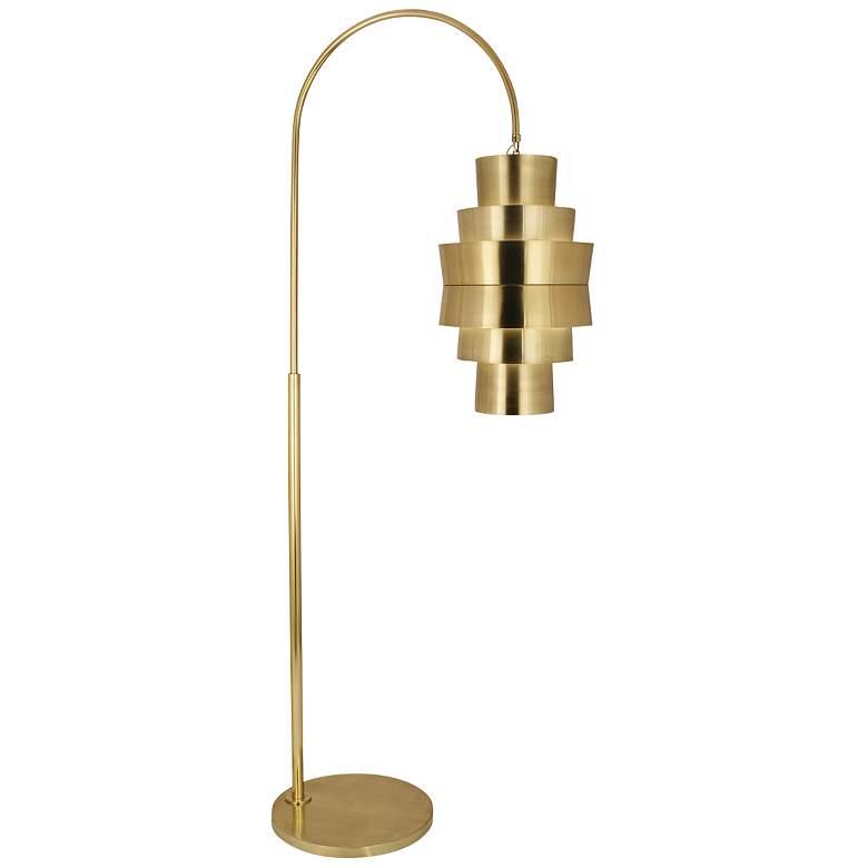 Robert Abbey Pierce Modern Brass Metal Arc Floor Lamp