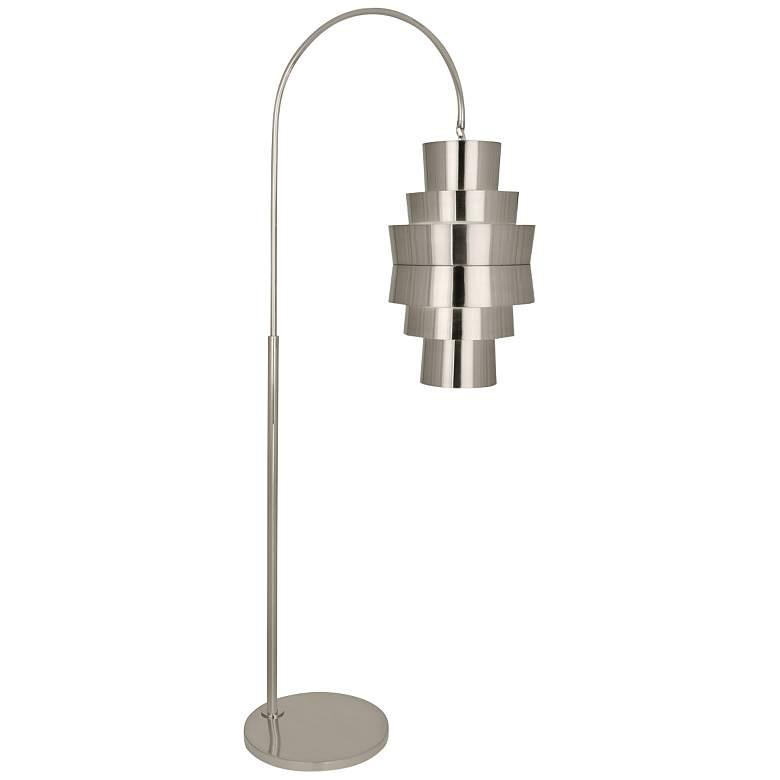 Robert Abbey Pierce Polished Nickel Metal Arc Floor Lamp