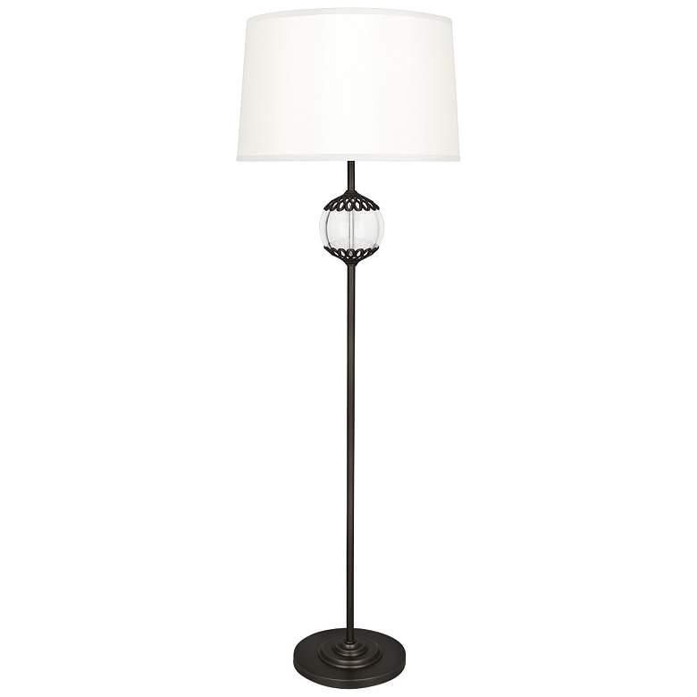 Robert Abbey Polly Deep Patina Bronze Metal Stem Floor Lamp