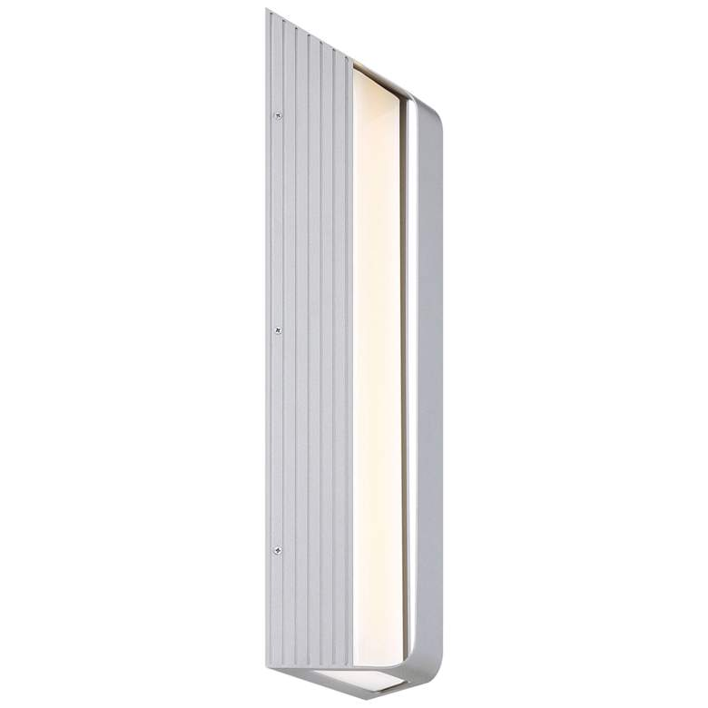 "Launch 24"" High Sand Silver LED Outdoor Wall Sconce"