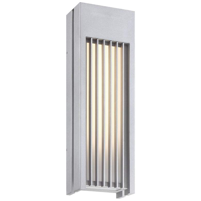 """Midrise 22 1/4"""" High Sand Silver LED Outdoor Wall Sconce"""