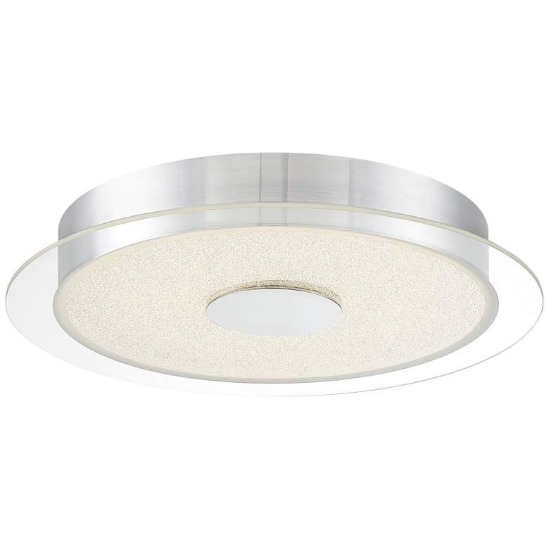 """Diamond Dust 15 3/4""""W Chrome and Crystal LED Ceiling Light"""