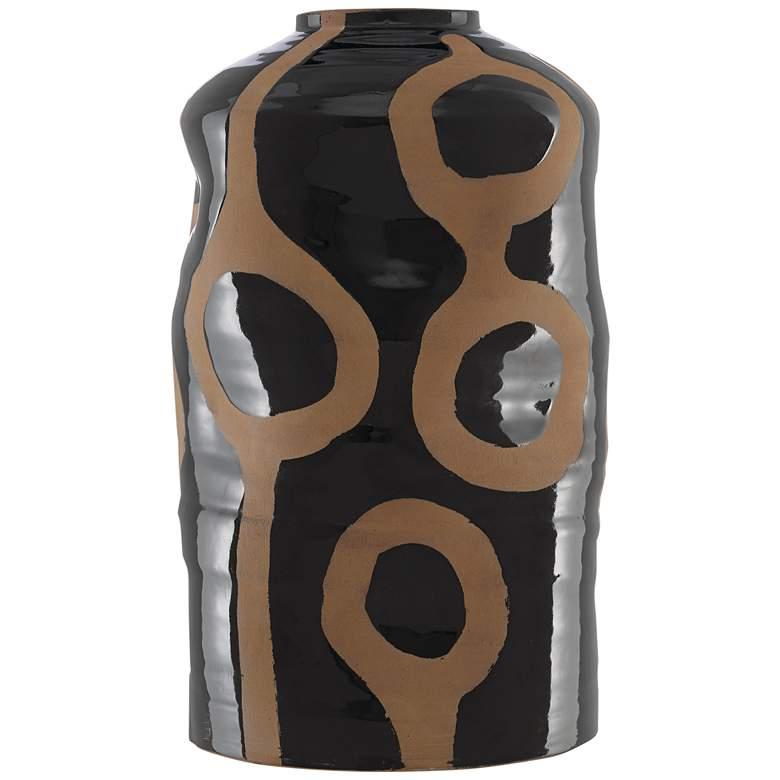 "Currey and Company Riku Black 16 1/4"" High Terracotta Vase"